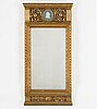 A mirror, gustavian style, first half of the 20th century.