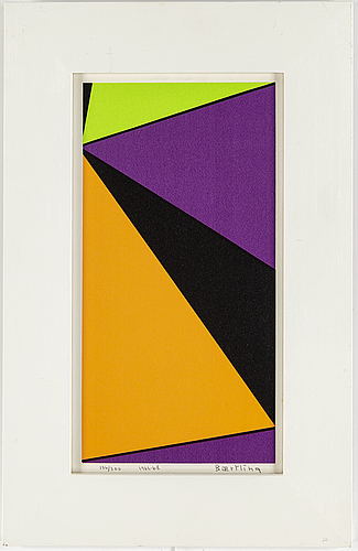 Olle baertling, silkscreen in colours, 1962-68, signed 134/300.