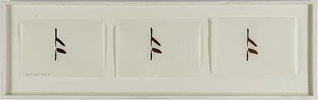 Anna ling, akvarell och maskinskrift på papper, utfört 2003.