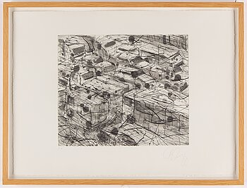 TONY CRAGG, etching, signed EA.