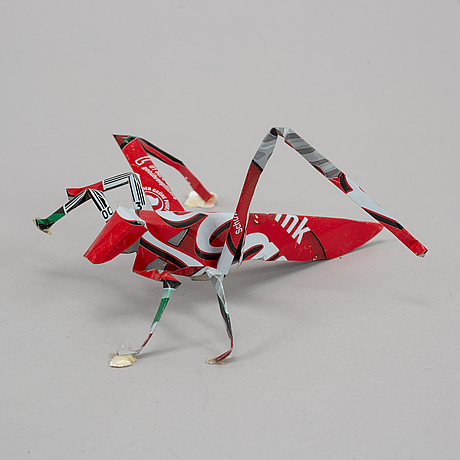 Thomas broomÉ, 27 sculptures made of aluminum cans signed.