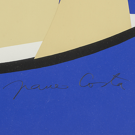 Franco costa, a lithograph in colors, signed and numbered 75/100.