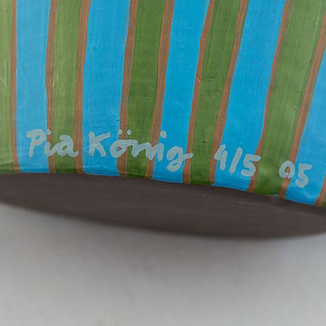 Pia könig, a sculpture group with shelf, signed and numbered 5/5, 3/5, 2/5. and 1/5 and dated 2005.