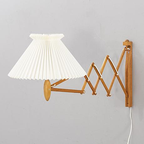 Erik hansen, wall lamp, modell 332/334, le klint, denmark.