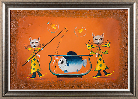 Terry laakso, oil on canvas, a tergo signed.