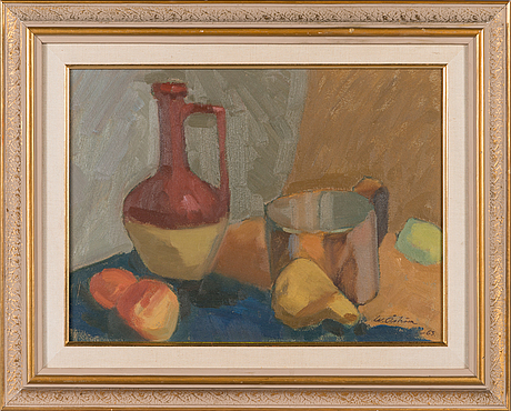 Werner ÅstrÖm, oil on board, signed and dated -63.