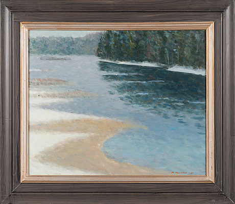 Matti mikkola, oil on board, signed and dated -01.