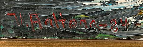Veikko aaltona, oil on canvas, signed and dated -84.
