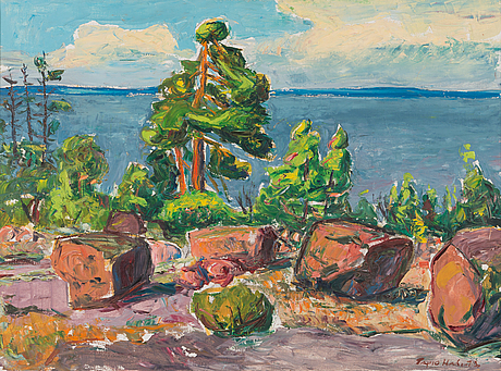 Tapio haili, oil on canvas, signed and dated -72, also a tergo.