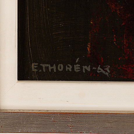 Esaias thorÉn, oil on panel, signed and dated -63.