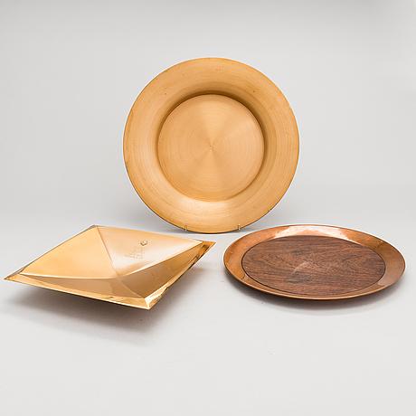 Tapio wirkkala, fat, 3 st. märkta design tapio wirkkala kultakekus made in finland.