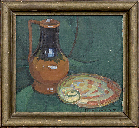 Ellen trotzig, oil on canvas signed and dated 32.
