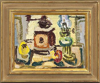 HANS LARSSON, oil on canvas signed and dated 50.