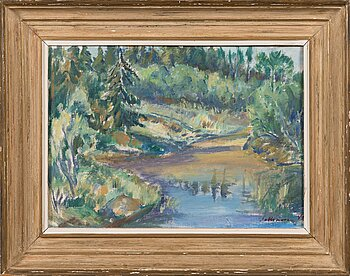 TYKO SALLINEN, oil on canvas, signed and dated 1948.