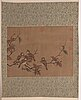 A chinese hanging scroll, ink and colour on silk, 1950/60s.