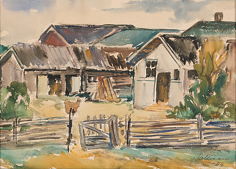 Tyko sallinen, water colour, signed and dated-29.