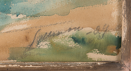Tyko sallinen, water colour, signed and dated-24.