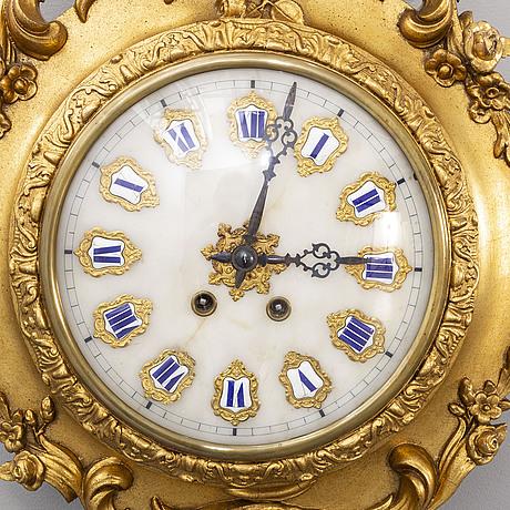 VÄggpendyl nyrokoko sent 1800-tal.