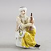 A meissen  porcelain figurin, probably 18th century.