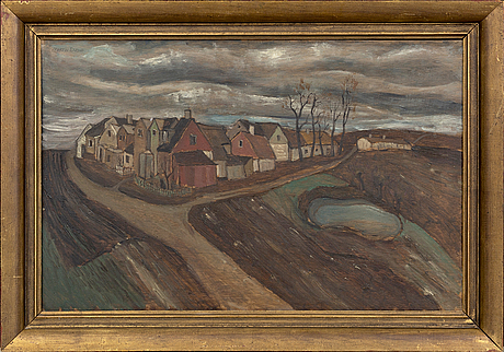 Martin emond, a signed oil on board.