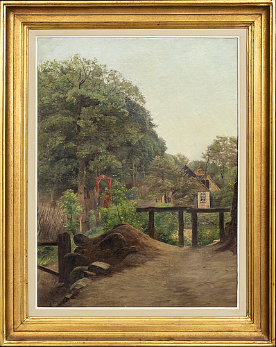 Olof krumlinde, a signed and dated oil on canvas.