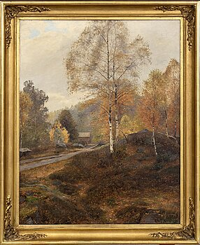 OLOF KRUMLINDE, a signed oil on canvas.