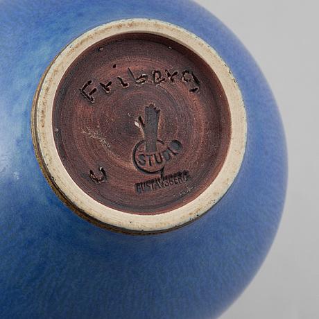 Berndt friberg, a stoneware vase, signed and dated 1951.