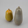 Berndt friberg, two stoneware vases, signed.