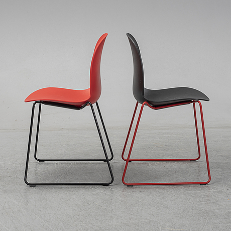 11 chairs by susanne grønlund, 'rbm noor', flook.