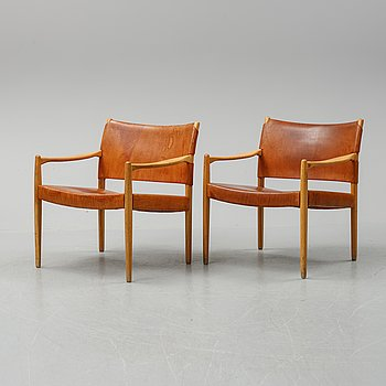 A pair of 'Premiär 69' easy chairs by Per Olof Scotte, IKEA.