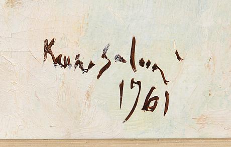 Kauko salmi, olja på duk, signerad och daterad 1961.