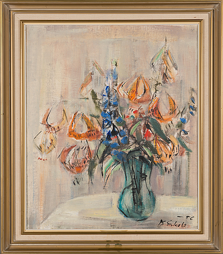 Kalle eskola, oil on canvas, signed and dated -56.