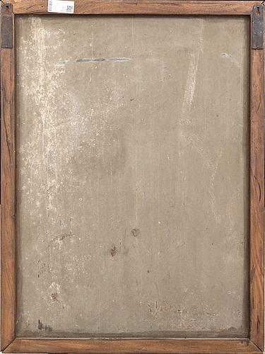 OkÄnd konstnÄr 1900-tal , oil on metal sheet.