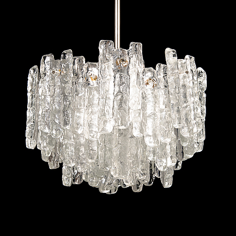 """Taklampa, """"ice block chandelier"""", j.t design, kalmar, Österrike, 1960-tal."""