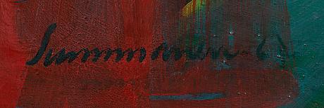 Arvo summanen, olja på duk, signerad och daterad -67.
