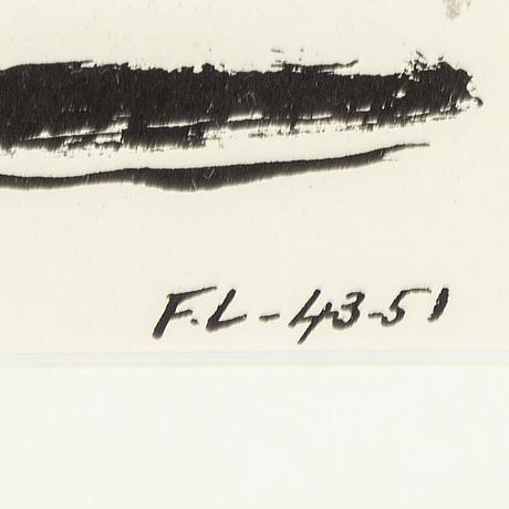 Fernand lÉger, efter, färglitografi, signerad i trycket, ur verve 1952, tryckt av mourlot.