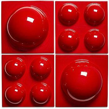 "1. Verner Panton, a set of 4 ""Bubble panels"", Lüber, Switzerland 1970's."