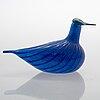 Oiva toikka, glass bird, finland's 75th independence year, sign. suomen sotka oiva toikka, nuutajärvi 1992, 665/1992.