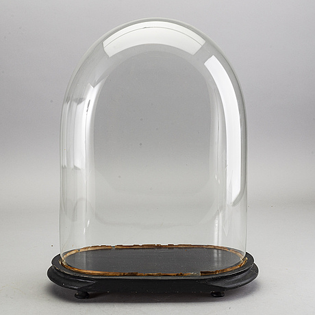Glashuv med sockel, omkring 1900.