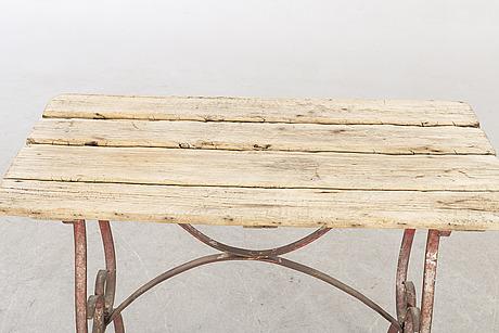 TrÄdgÅrdsbord, omkring 1900.