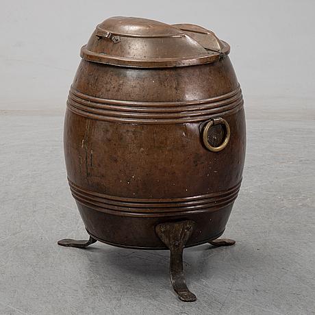 A ca 1900 copper barrel.