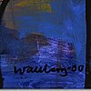 Bengt wallberg, oil on canvas, signed and dated -00.