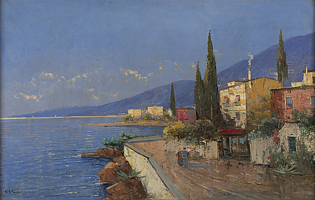 Georg fischhof, oil on canvas, signed.