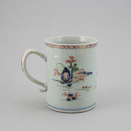 Mugg, kompaniporslin. qingdynastin, qianlong (1736-95).