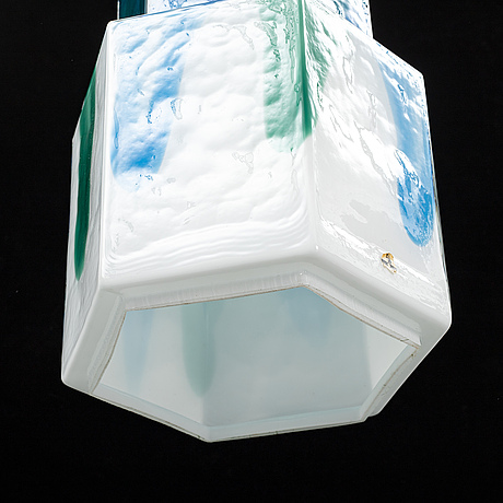 Helena tynell, a glass ceiling lamp, flygsfors glasbruk.