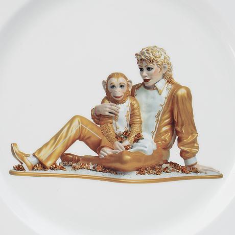 Jeff koons, tallrik, för bernardaud, upplaga om 4500 ex, 2013.