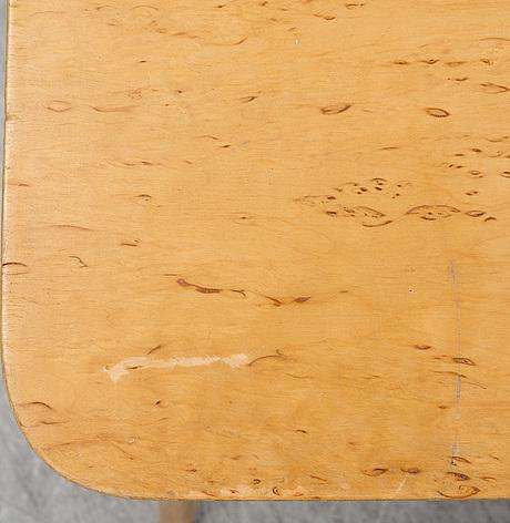 Bruno mathsson, a burr birch veneered 'annika' table, firma karl mathsson, värnamo, 1965.