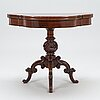 A neo rococo style game table from around 1860s-80s.