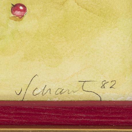 Philip von schantz, watercolor, signed and dated -82.