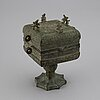 A archaistic bronze censer/food vessel, presumably late 19th century.